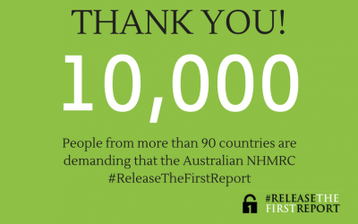 #ReleaseTheFirstReport Petition Reaches 10,000 Signatures